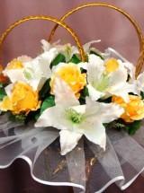 Кольца на авто розы и лилии Кл-033 Прокат