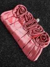 Клатч бордовый с розами Кл7