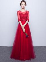 Вечернее платье ВПк34 бордовое прокат